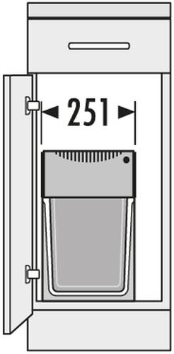 hailo abfallsammler ta swing 30 2 31 tandem 3666 11 1 x 24 1 x 7 liter. Black Bedroom Furniture Sets. Home Design Ideas