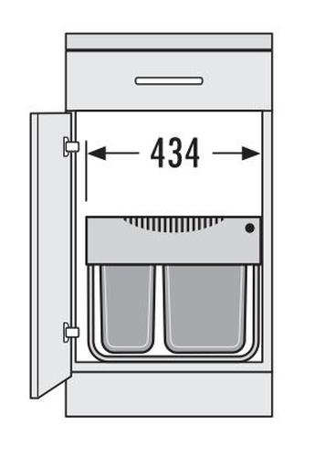 hailo raumspar tandem s 1x18 und 1x12 liter 3644 70 tr swing 30 ebay. Black Bedroom Furniture Sets. Home Design Ideas