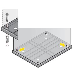 Bodenbefestigungs-Set Hailo-fix® für Big-Boxen