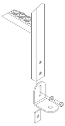 Fußhalter universal - Holm 40x20 mm