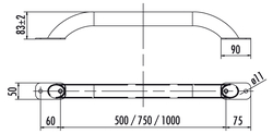 Haltegriffe aus Edelstahl 1.4301 / ASTM 304