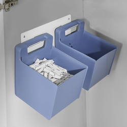 2 Accessories Boxes with wall-bracket