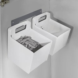 2 Accessories Boxes with wall-bracket dark grey