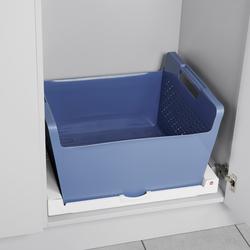 Set Universal Pullout, white + laundry basket, blue