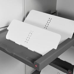 Set Shoe Rack white + Universal Pullout dark grey