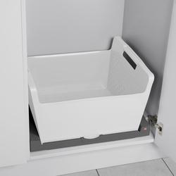 Set Universal Pullout, dark grey + laundry basket, white