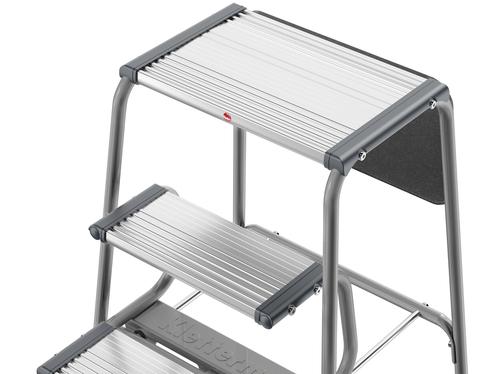 Scala pieghevole gradini scaletta sgabello acciaio gimi tiko