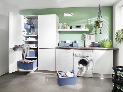 laundry area hailo einbautechnik. Black Bedroom Furniture Sets. Home Design Ideas