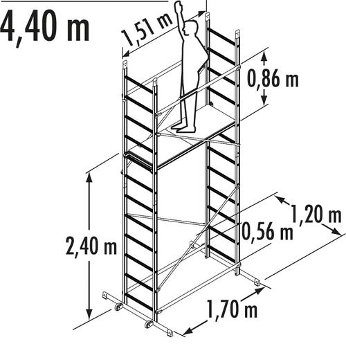 Indoor Scaffolding Max Height : Gerüste hailo