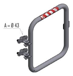 Schranke Ø 43 mm mit Knieleiste